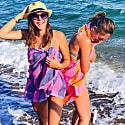 Carnival Travel Towel Hot Pink & Navy Blue image