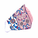 Off-White & Pink Double-Layer Silk Iznik Print Face Mask image