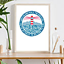 We Will Guide You - Lighthouse Print image