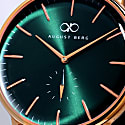 August Berg Serenity Rosegold Classic Eye Greenhill - Light Brown Leather 40mm image