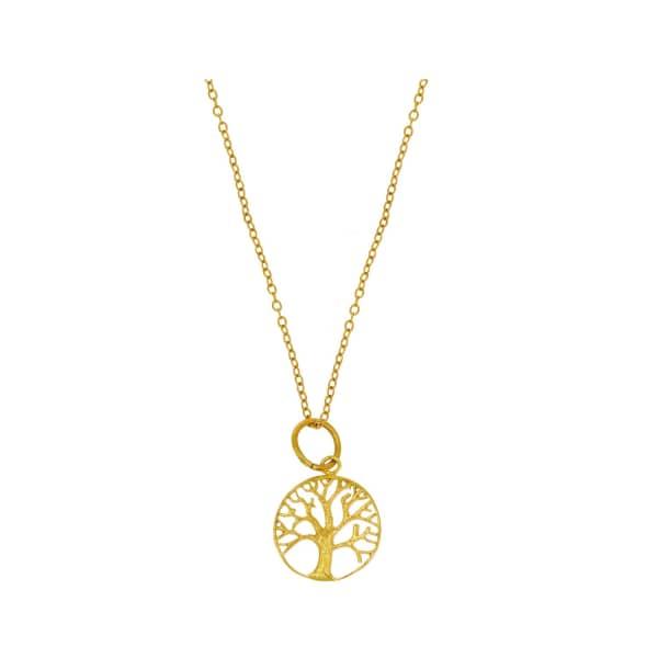 OTTOMAN HANDS Gold Tree Of Life Pendant