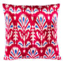 Handcrafted Red Silk Velvet Cushion image