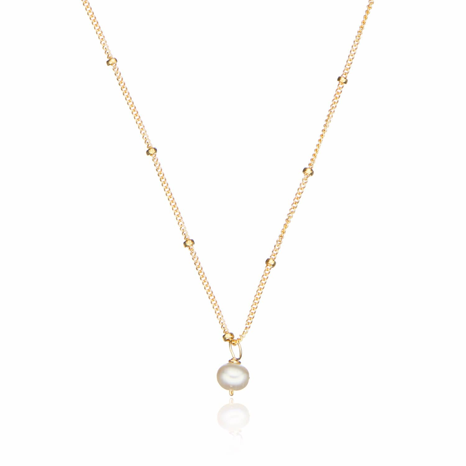 biba shop floating single necklaces home pearl rose jewellery necklace