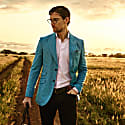 Mawimbi Blue & White Striped Blazer image