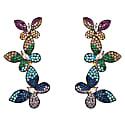 Butterfly Rainbow Drop Earrings Gold image