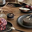 Rio Ceramic Salt & Pepper Dish - Dark Ash image
