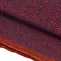 Burgundy Three Designs Wool Scarf image
