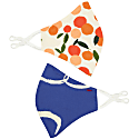 Set Of Two Contour Masks Brushstroke Dove & Mini Summer Oranges image