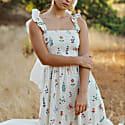 Summer Herbs Picnic Dress image