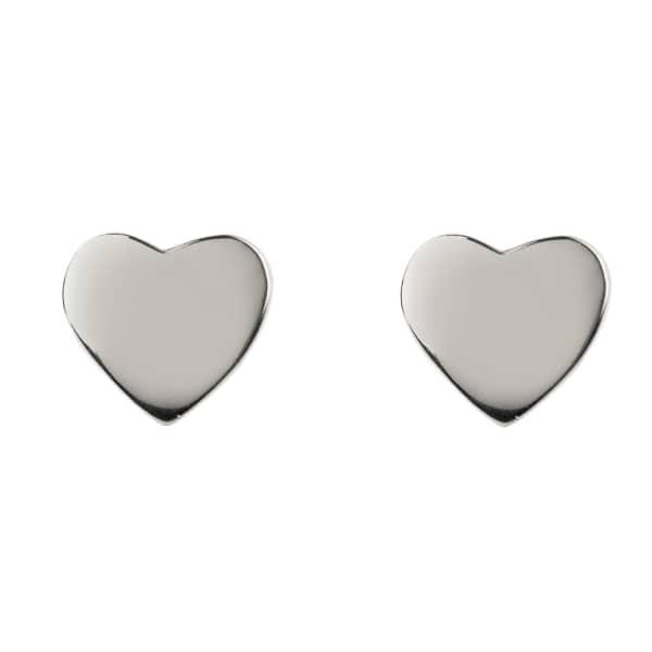 Cosmic Mini Heart Stud Earring Silver
