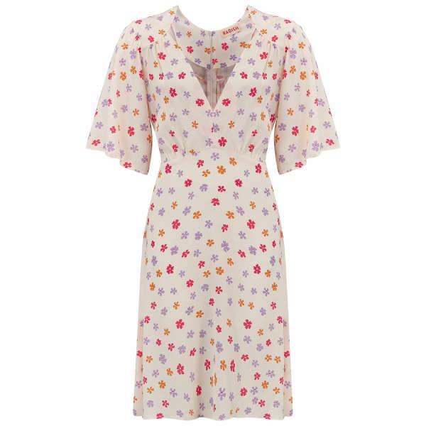 RADISH Margita Mini Dress In Cream Blossom