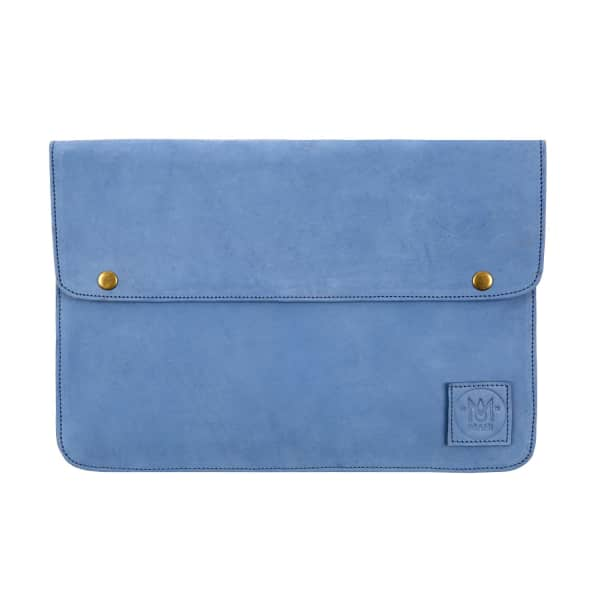 MAHI LEATHER Suede Oslo Macbook Case In Vintage Blue