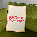 Together In Electric Dreams Retro A3 Art Print image