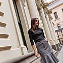 Luxury Superfine Merino Skivvy - Black image