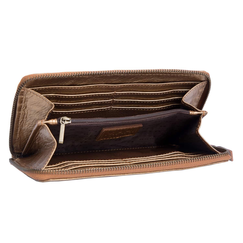 96112960c Classic Ladies Purse In Metallic Bronze Leather | MAHI Leather ...