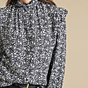 Natalie Blouse In Black & White Floral image