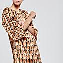 Silk Print Dress image