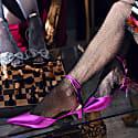 Florida Pink Metallic Strappy Mule image