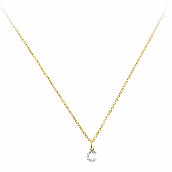 SHARON MILLS LONDON Monogram Mini Diamond Necklace C
