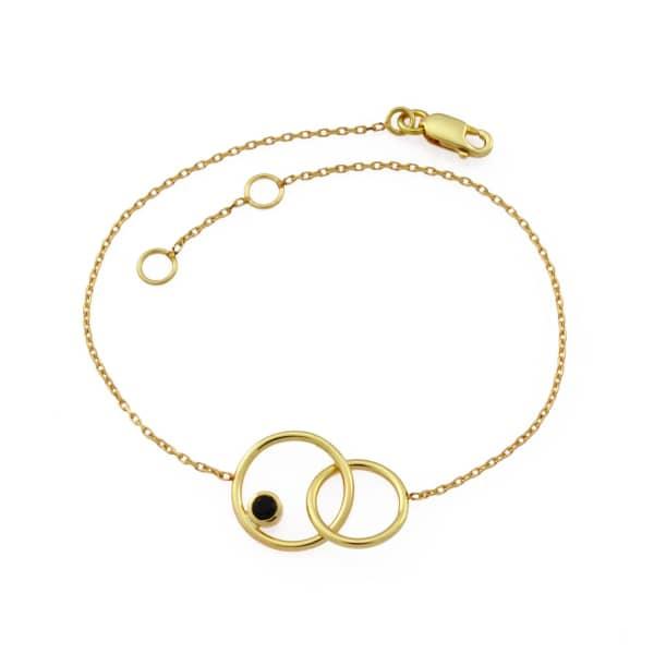 MONARC JEWELLERY The Meridian Night Bracelet 9ct Gold + Black Spinel