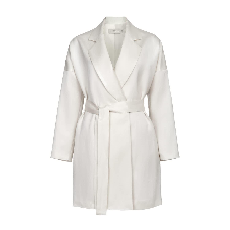 2c94383b4cfe Avani White Linen Mini Blazer Dress   UNDRESS   Wolf & Badger