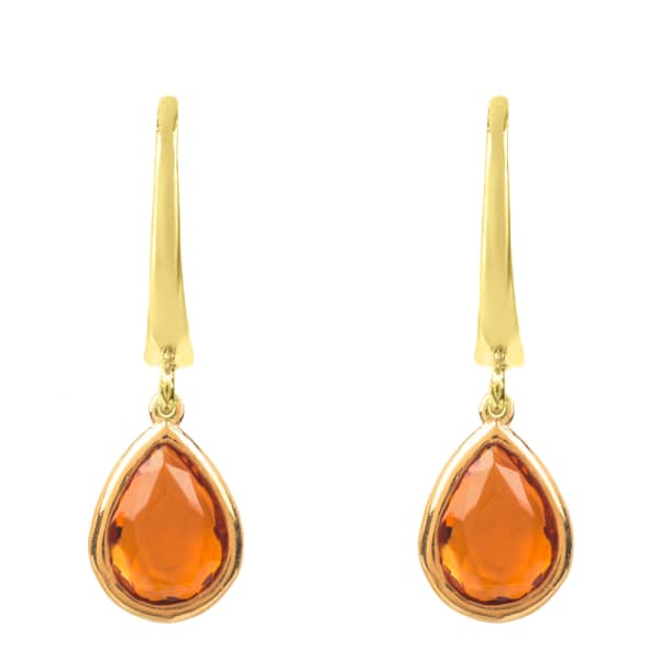 Pisa Mini Teardrop Earring Gold Citrine