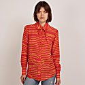 Rudy Silk Shirt Red & Gold Stripe image