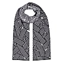Geometric Striped Merino Wool Scarf image