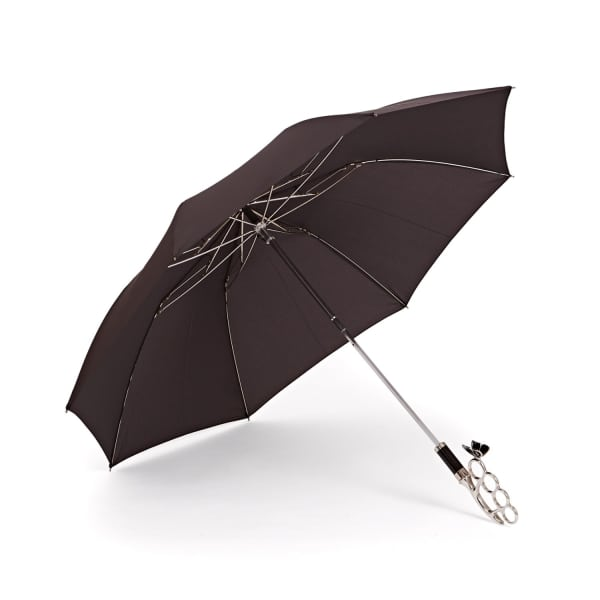 GIZELLE RENEE The Nirvana Compact Black Umbrella