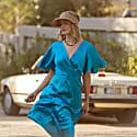 Denise Silk Dress In Blue image