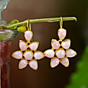 Starburst Pink Opal Earrings image