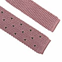 Pink Embroidered Triangles Silk Knitted Tie  image