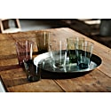 Fifty'S Handcrafted Glass Tumbler - Forest Green image