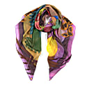 Sunset Feast Large Cotton Silk Scarf - Square image
