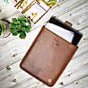 Leather Stockholm Ipad Tablet Case In Vintage Brown With Cream Stitching image