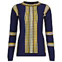 Navy Sweater With Textured Railroad Pattern image