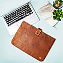 Stockholm Leather Macbook Sleeve In Vintage Brown image