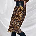 Melania Silk Leopard Long Skirt image