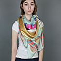 Silk Scarf With Between Sky & Sea image