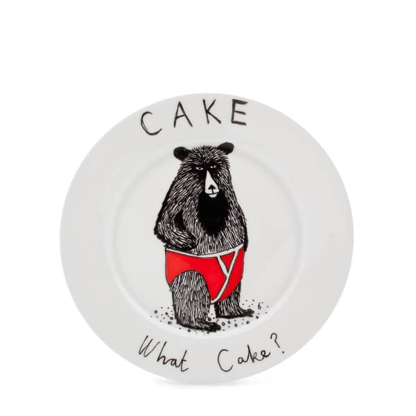 what cake plate jimbob art wolf badger. Black Bedroom Furniture Sets. Home Design Ideas