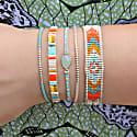 Aquamarine Stone Handwoven Bracelet image