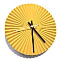 Sunray Concrete Clock In Yellow image