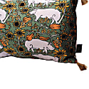 The Country Pig Green Rectangle Cushion image