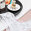 Areca Lace Tanga White Bridal Cheeky Panty With Pink Bow Naked Intimates image