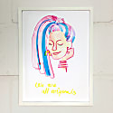 We Are All Originals Giclee Print Pink image