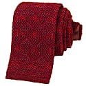 Burgundy Diamonds Silk Knitted Tie image