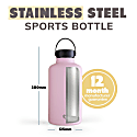 2 Litre Bashful Pink Insulated Epic Bottle Thermal Canteen - Stainless Steel image