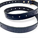 Carnaby Navy Blue Leather Ladies Skinny Belt image