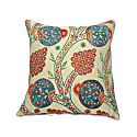 Blue Pomegranate Design Silk Suzani Cushion image