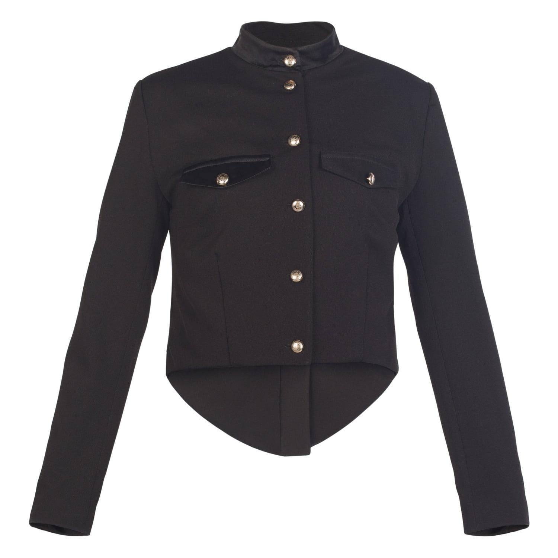 Black Wool Military Style Jacket image ee4d7016cd7